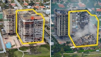 Photo of Miami, photos of the building before and after the collapse.  Report 2018: structural problems – Corriere.it