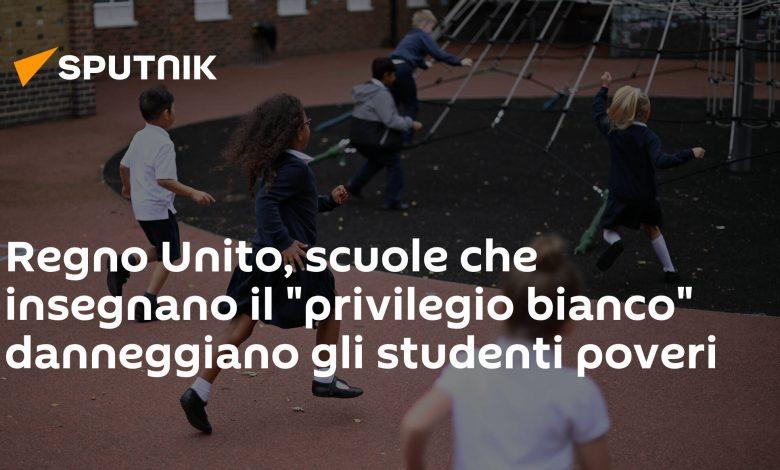UK, schools teaching 'white privilege' harm poor students