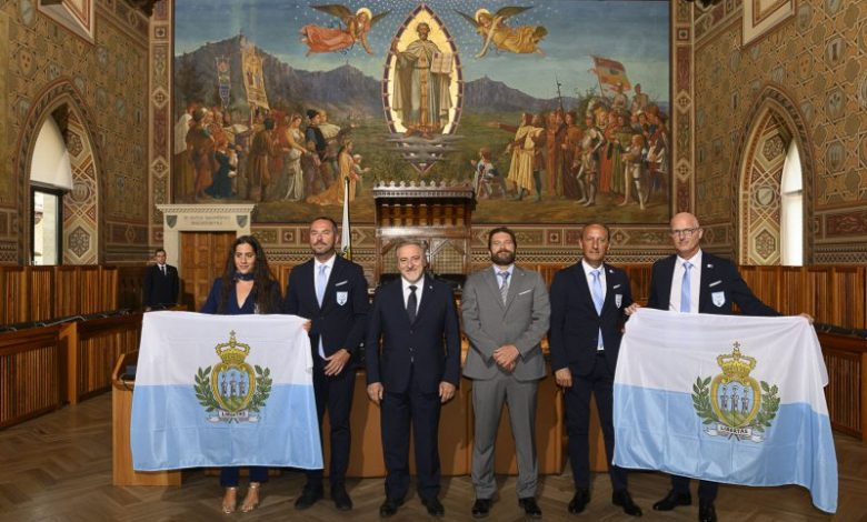 The delegation of San Marino presented • newsrimini.it