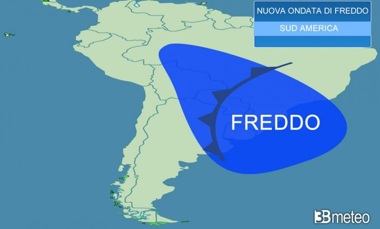 weather forecast.  A new wave of cold in South America, snow and freezing rain in Brazil «3B Meteo