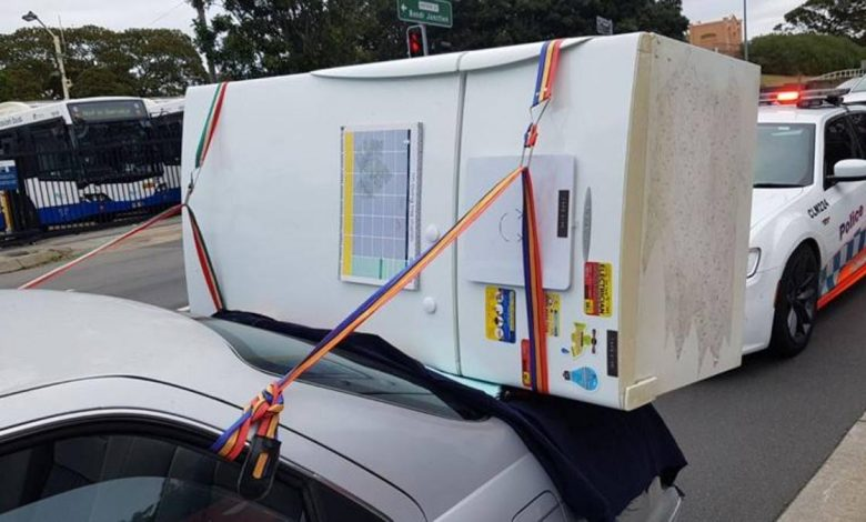Amazing in Australia: Ride with the fridge in the trunk