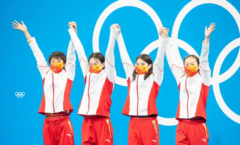 Chinese 4x200 world record and gold - Australia third after USA