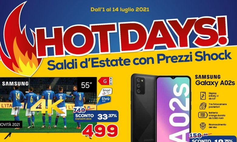 """Euronics Bulletin """"Hot days!""""  And """"Sottocosto Anniversario"""" until July 14: new promotions!"""