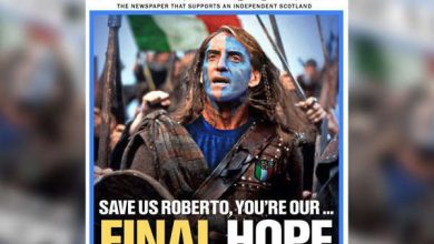 Photo of Italy's victory was celebrated all over Scotland