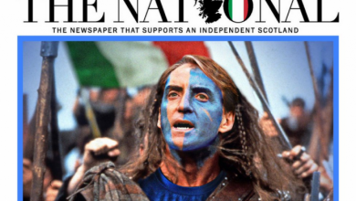 Photo of This was reported by the Scottish daily Euro 2020.  He supported Italy against England