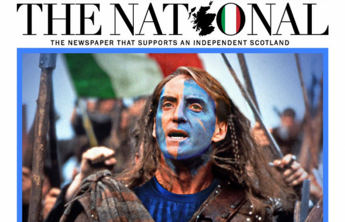This was reported by the Scottish daily Euro 2020.  He supported Italy against England