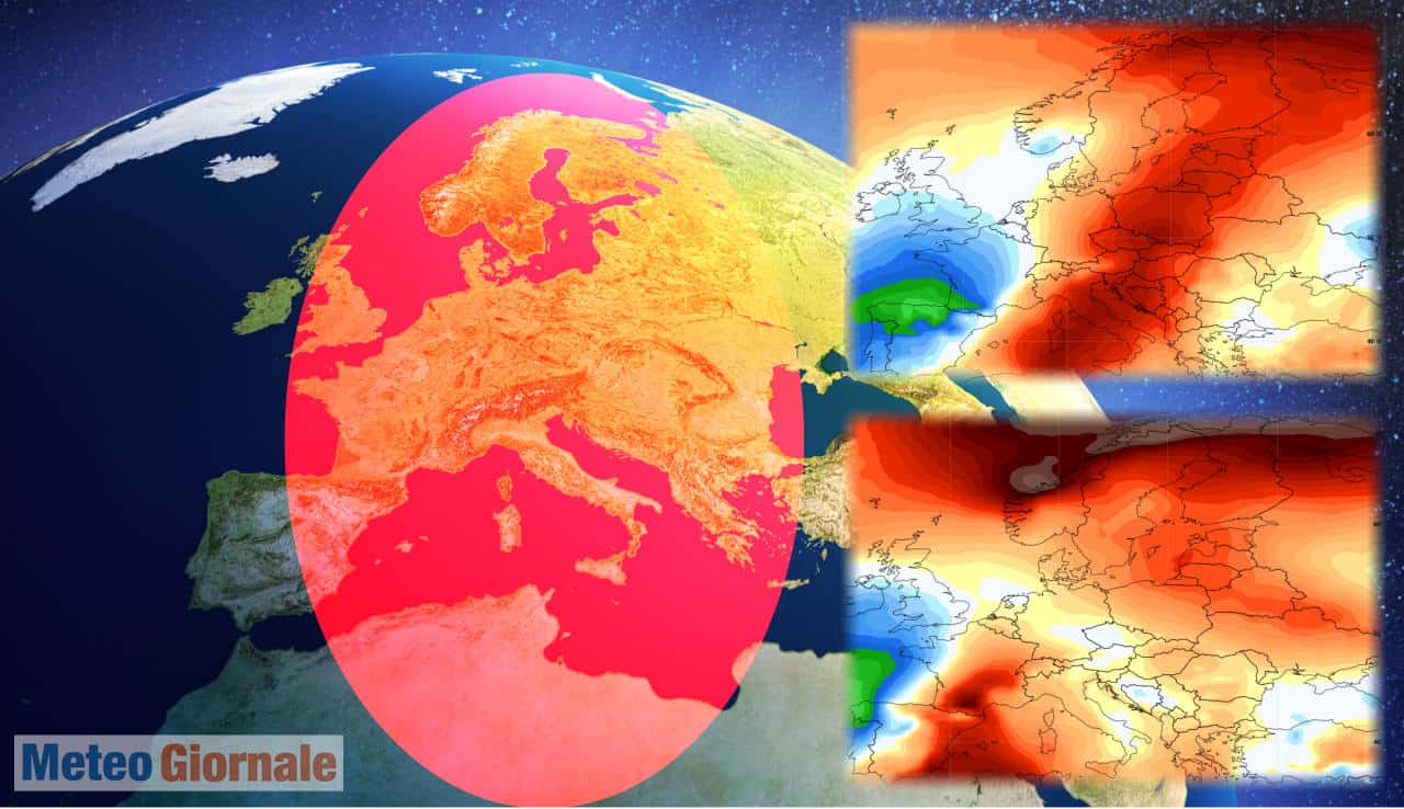 Photo of Weather from NCEP: Europe with anomalous high pressure effect Canada with hot record