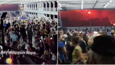 Photo of Fires in Greece, hundreds of tourists evacuated from burning islands: videos filmed on ferries