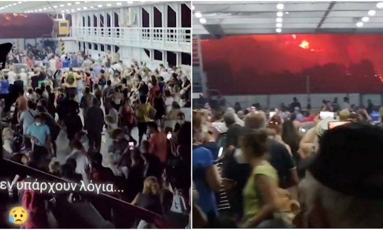 Fires in Greece, hundreds of tourists evacuated from burning islands: videos filmed on ferries