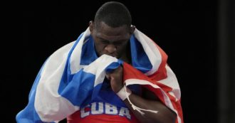 Megyn Lopez, Cuban in Legend as Lewis and Phelps: Fourth Games Gold Medalist in Greco-Roman Fighting.  Dedicate victory to Castro