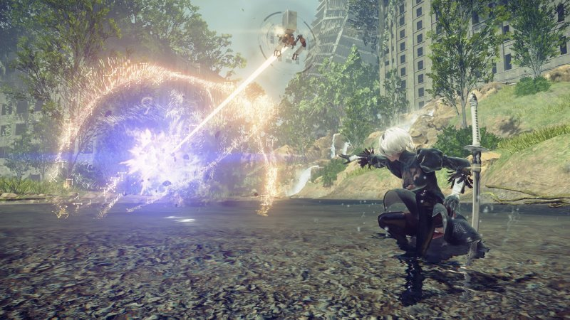 NieR: Automata, another fighting sequence