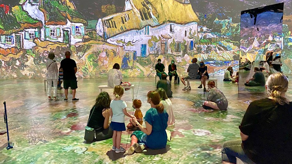 Pictures from inside the immersive Van Gogh exhibition