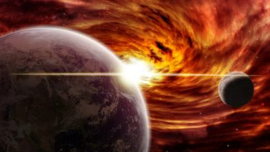 """Photo of Space, disaster after disaster.  """"In this way it devours millions of worlds and stars"""" – Libero Quotidiano"""