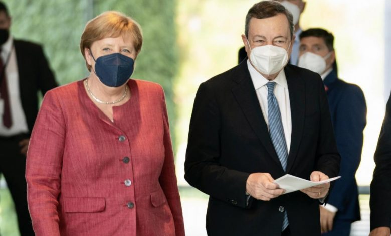 Vaccines in Africa, crocodile tears for Draghi and Merkel, regrets delay but still on patent sharing
