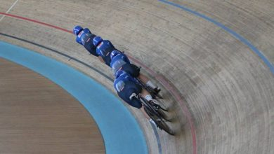 Photo of Cycling track, blue in the final for fifth in pursuit.  Another world record for Germany – OA Sport