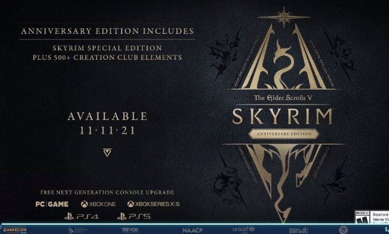 Skyrim Anniversary Edition has been announced, coming out in November on PS5 and Xbox Series X/S