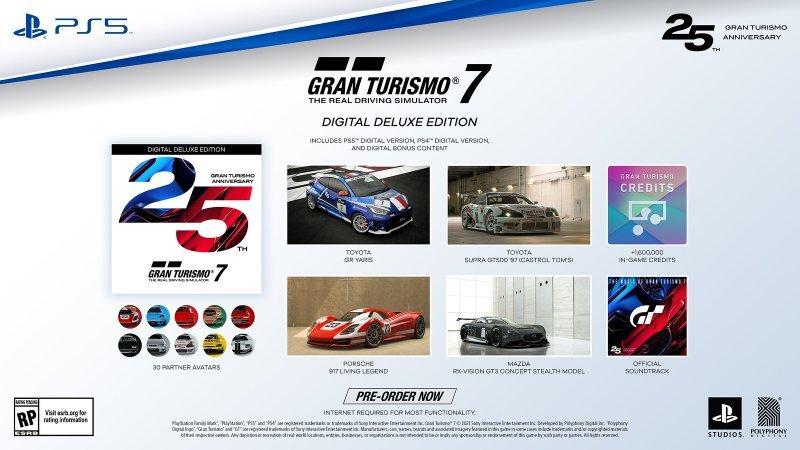Gran Turismo 7, Digital Deluxe Edition Contents