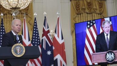 Photo of A military alliance between the United States, the United Kingdom, and Australia to contain China.  Canberra nuclear submarines