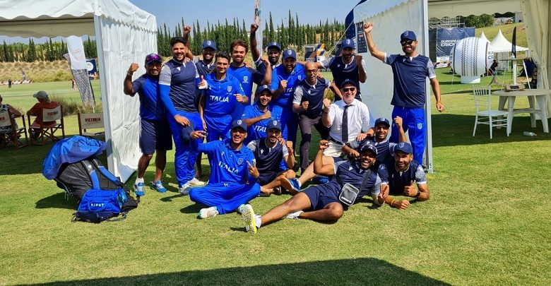 As Italy wins in cricket!  Beat the English masters at the European Championships in Malaga - OA Sport