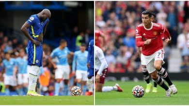 Photo of Chelsea, first knockout.  Ronaldo is dry, United lose 1-0