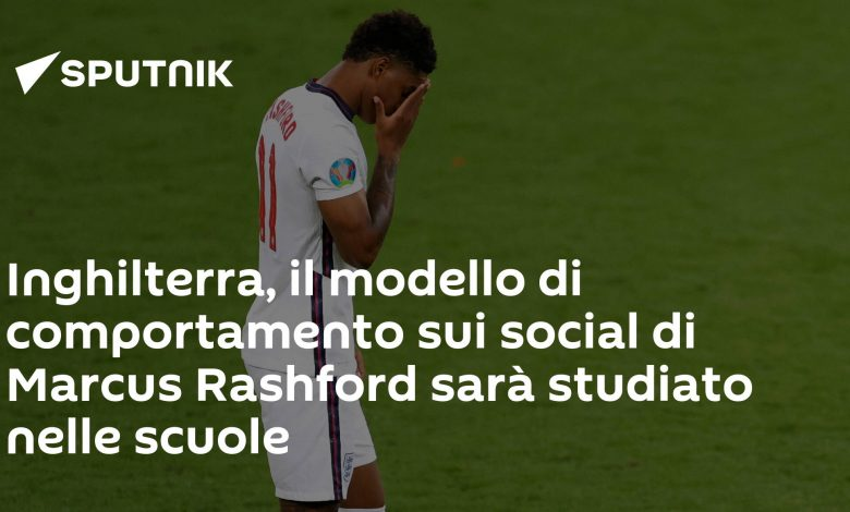 England, Marcus Rashford's social behavior model will be studied in schools