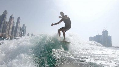 Photo of On top of the waves in Dubai with surfing