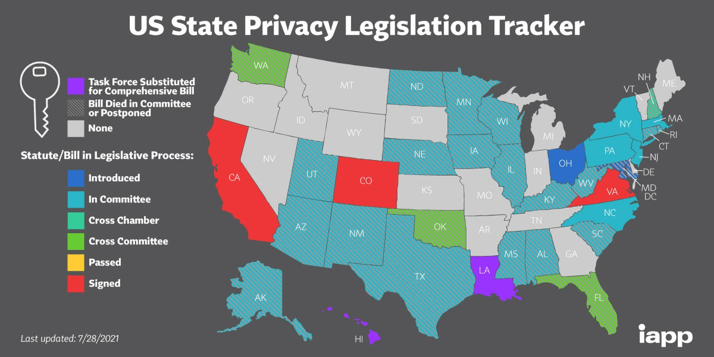 Latest US Privacy Laws - From IAPP