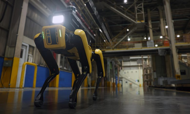 Spot, the four-legged robot, is the new guardian of the Kia plant