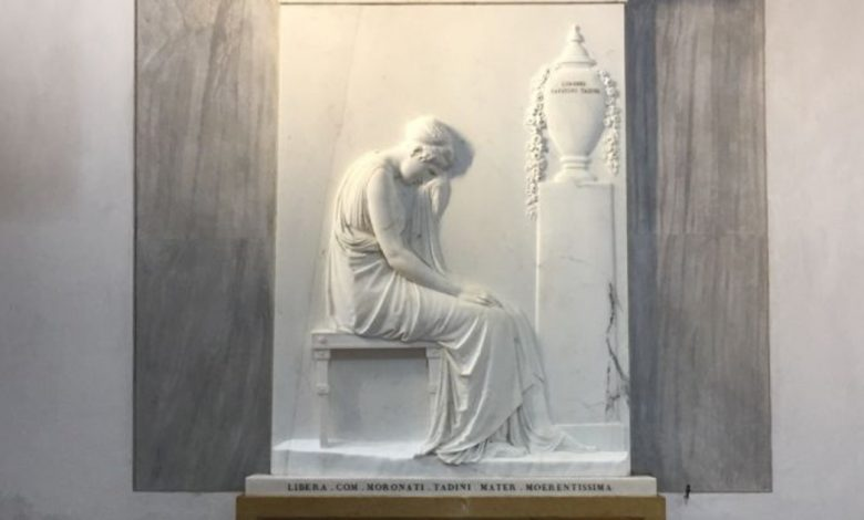 Tadini Stele is back, Canova's last masterpiece to appear again after restoration.  It will be displayed as it was 200 years ago: by candlelight