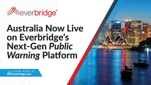 Australia succeeds in working with the nationwide public warning platform Everbridge (Graphic: Business Wire)