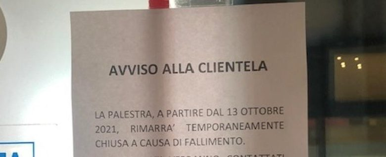 New Life bankruptcy, closed gym in Piazza Marconi