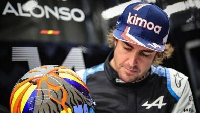 Photo of F1 US GP, Fernando Alonso in Austin with a special helmet for the Canary Islands