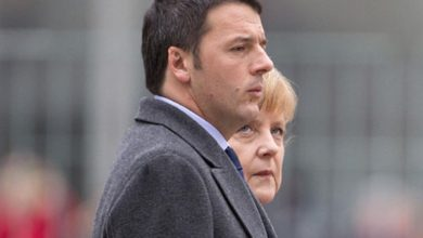 Photo of Merkel was born into the race for leadership.  Renzi hopes to maneuver Draghi