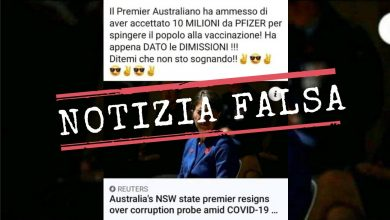 """Photo of No, the Prime Minister of New South Wales (Australia) did not resign because she """"admitted she accepted 10 million from Pfizer"""""""