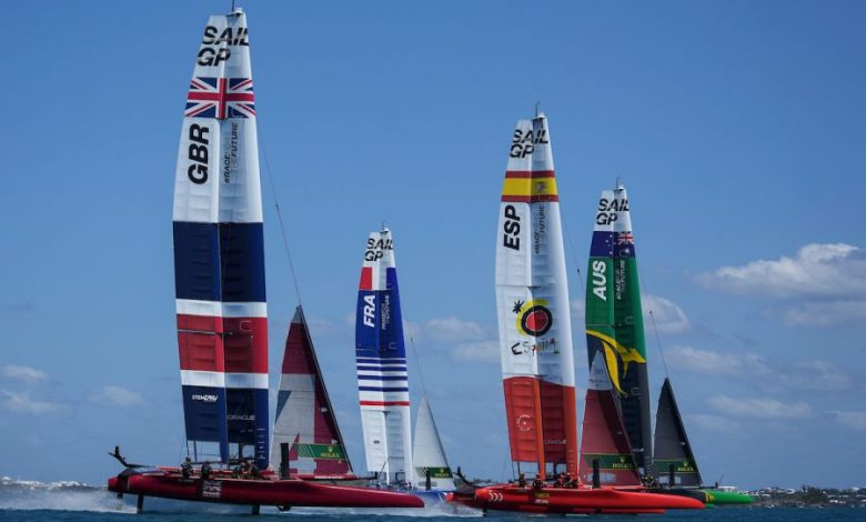 SailGP, Australia Slingsby on top of Cadiz.  Spithill at -1, Ainslie defends himself, Burling collapses - OA Sport