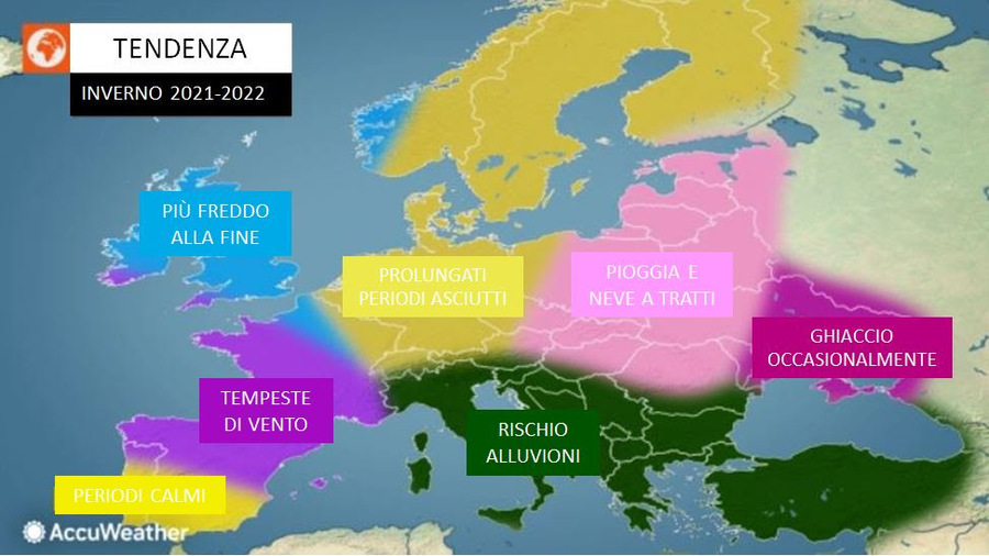 Photo of Winter 2021/22, ACCUWEATHER RUNNER, WILL BE SHOCK!  Direction from THRILLS »ILMETEO.it